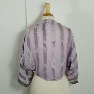 Giorgio Armani Silk Blend Bolero - Silver/Purple